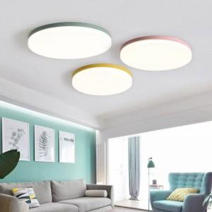 Plafoniere in legno per soggiorno Camera da letto apparecchio tondo a plafone Lampada da soffitto decorativa domestica Paralume decorativo