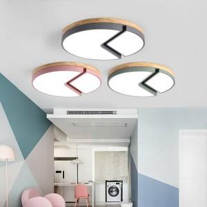 Plafoniere in legno Telecomando per soggiorno Camera da letto Plafoniera quadrata Lampada a sospensione decorativa domestica