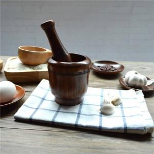 Macinini in legno per aglio per sale / pepe / frutta / verdura Utensili da cucina in legno ecologici Macinazione condimento