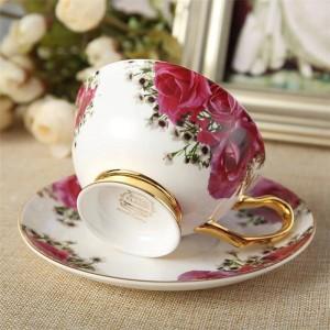 Tazze e piattini in ceramica di tè nero pomeridiano in tazza tazza di caffè con set di bicchieri in porcellana per vasellame Dropshipping