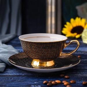 Tazze da caffè in porcellana di alta qualità Tazze e piattini in ceramica vintage set bicchieri da tè per caffè